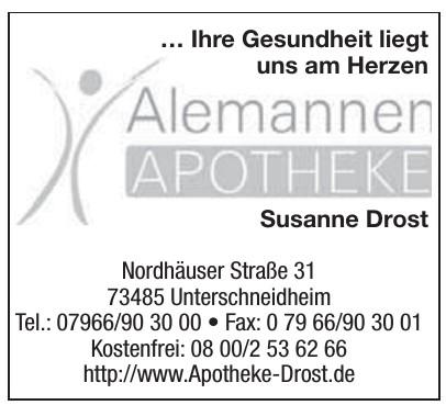 Alemanner Apothete Susanne Drodt