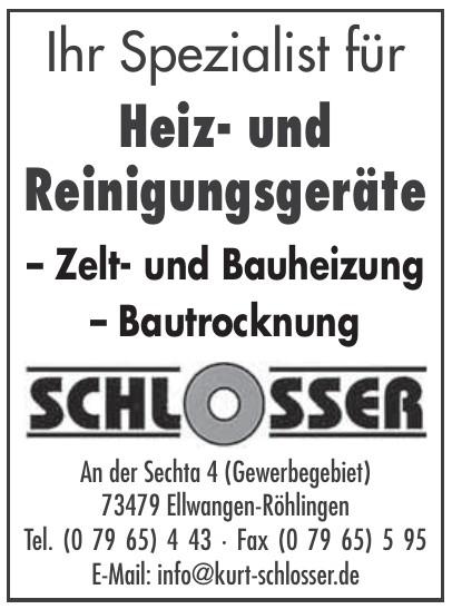 Schlosser Heiz- und Reinigungsgeräte