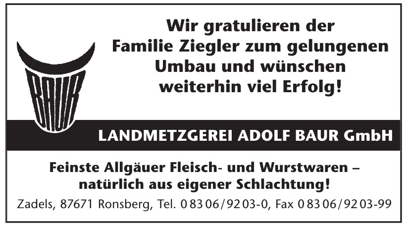 Landmetzgerei Adolf Baur Gmbh
