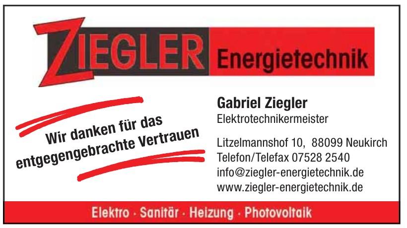 Gabriel Ziegler Elektrotechnikermeister