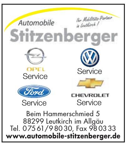 Automobile Stitzenberger