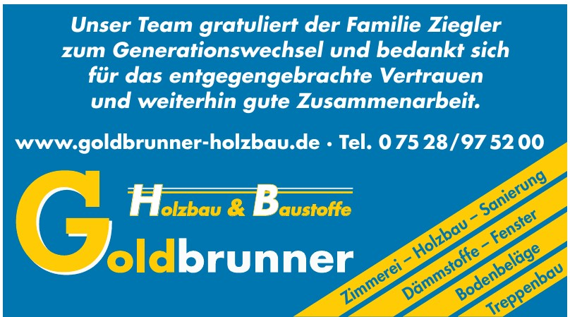 Goldbrunner Holzbau & Baustoffe