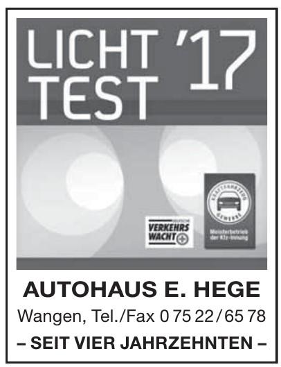Autohaus E. Hege