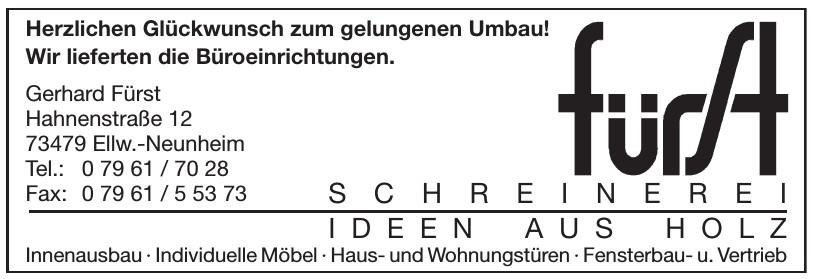 Gerhard Fürst Schreinerei