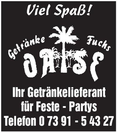 Getränke Fuchs Oase