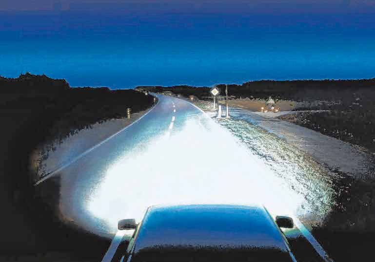 Sicher durch die dunkle Jahreszeit: Gut eingestellte Scheinwerfer tragen zu mehr Sicherheit bei. Ein Fahrzeugcheck zum Herbstbeginn empfiehlt sich daher in jedem Fall. FOTO: DJD/ROBERT BOSCH GMBH