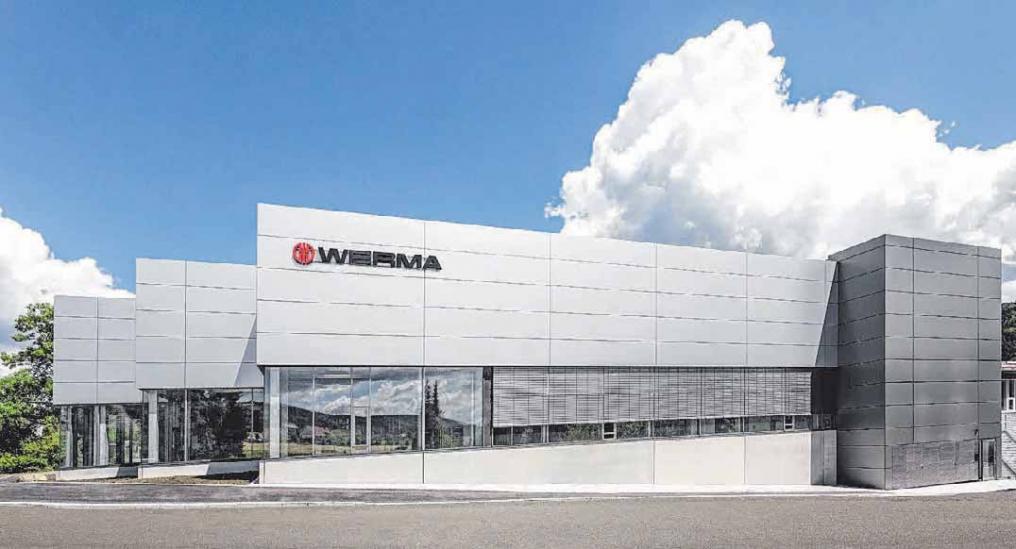 Klare Formen bestimmen das Design des WERMA-Neubaus, der am 22. Juli eingeweiht wird