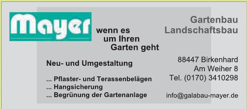 Mayer - Gartenbau, Landschaftsbau