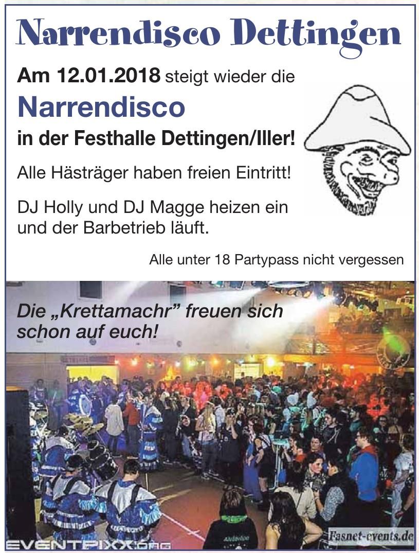 Narrendisco Dettingen