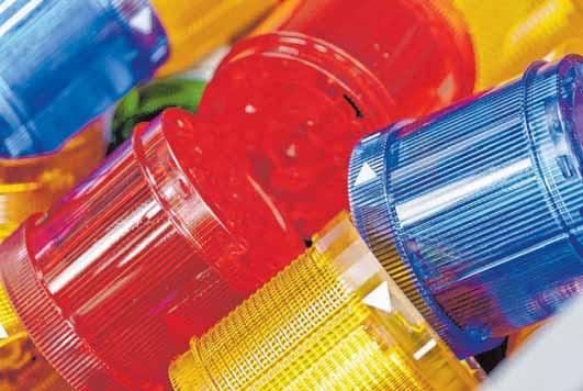 Die bunte Welt von WERMA: Das Unternehmen stellt vor allem Signalleuchten und Ampeln, Signalsäulen, Hupen und Sirenen sowie innovative Systeme zur Prozessoptimierung für die Fertigung, Produktionslogistik und den Versand her. Angefangen hat alles im Jahr 1950 mit Haartrocknern und Motoren.
